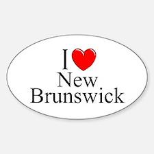 """I Love New Brunswick"" Oval Decal"
