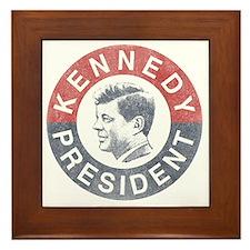 kennedypresident1960-nobg copy Framed Tile