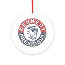 kennedypresident1960-nobg copy Round Ornament