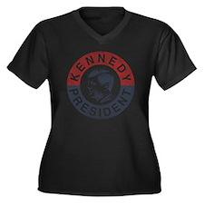 kennedypresi Women's Plus Size Dark V-Neck T-Shirt