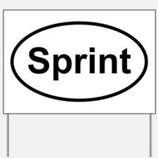 New Sprint Oval logo Yard Sign