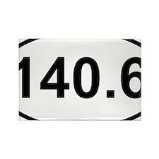 New 140 Oval logo Rectangle Magnet