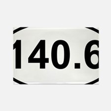 New 140 Oval logo Rectangle Magnet