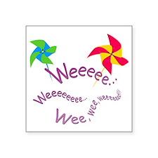 "pinwheel_ Square Sticker 3"" x 3"""