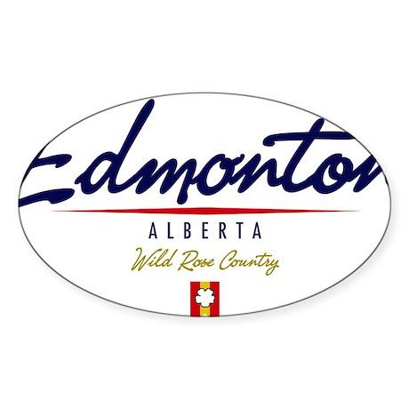 Edmonton Script W Sticker (Oval)