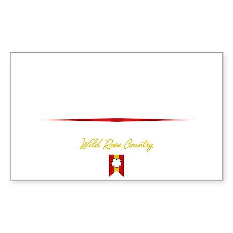 Edmonton Script B Sticker (Rectangle)