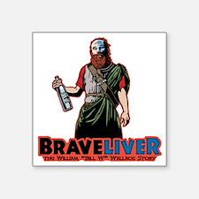 """brave-liver-T Square Sticker 3"""" x 3"""""""