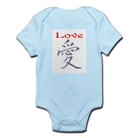 LOVE (CHINESE PAINTING) Infant Bodysuit