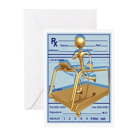 Prescription Treadmill Runner Greeting Cards (Pack