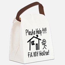please_help_ty Canvas Lunch Bag