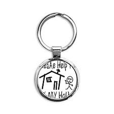 please_help_ty Round Keychain