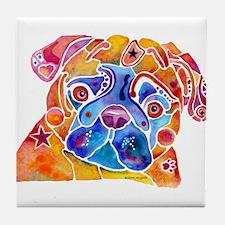 Pug Dog Tile Coaster