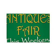 antiques fair weekend Rectangle Magnet