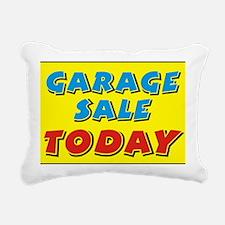 garage sale today Rectangular Canvas Pillow