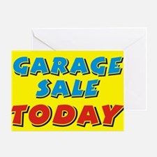 garage sale today Greeting Card