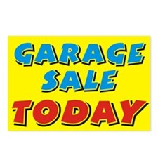 garage sale today Postcards (Package of 8)