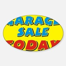 garage sale today Decal