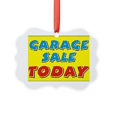 garage sale today Ornament