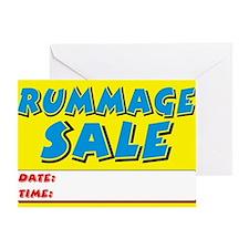 rummage sale dt Greeting Card