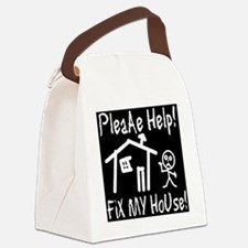 please_help_fix_my_house_invert Canvas Lunch Bag