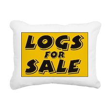 logs Rectangular Canvas Pillow