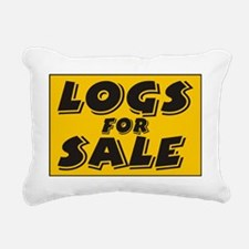 logs Rectangular Canvas Pillow