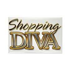 Shoping Diva_Light Rectangle Magnet