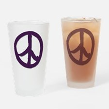 PeaceSignTshirtLARGE Drinking Glass
