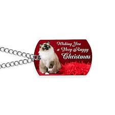 Maddie Christmas Card Dog Tags