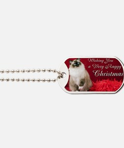 Maddie Christmas Card Dog Tags