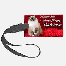 Maddie Christmas Card Luggage Tag