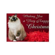 Maddie Christmas Card Rectangle Magnet