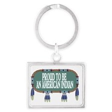 proud indian.2.gif Landscape Keychain