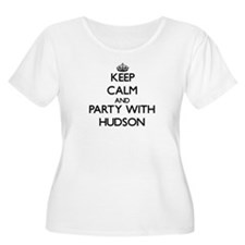 Keep Calm and Party with Hudson Plus Size T-Shirt