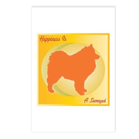 Samoyed Happiness Postcards (Package of 8)