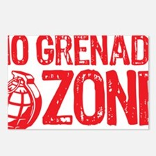 No Grenades Red Postcards (Package of 8)