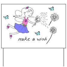make a wish fairy Yard Sign