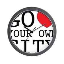 go love your own city Wall Clock
