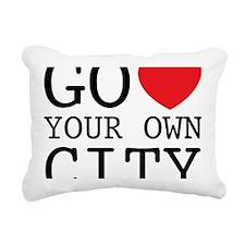 go love your own city Rectangular Canvas Pillow