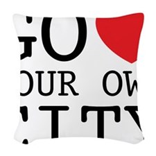go love your own city Woven Throw Pillow