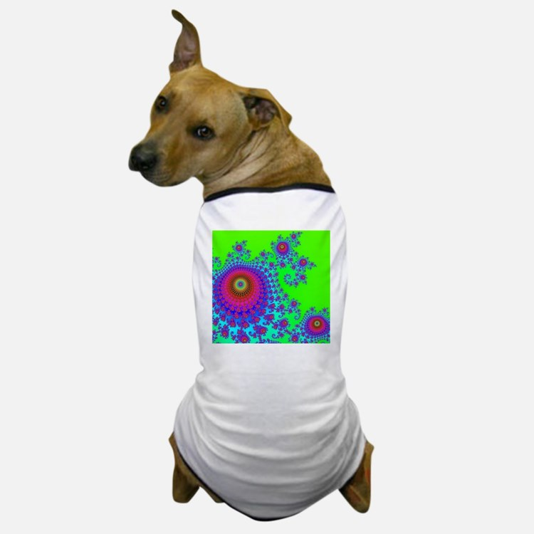 super_GreenSpiral Dog T-Shirt