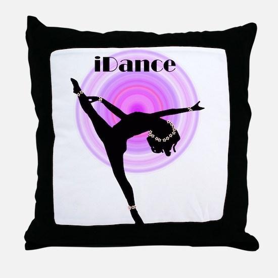 """iDance"" Purple Rainbow Throw Pillow"