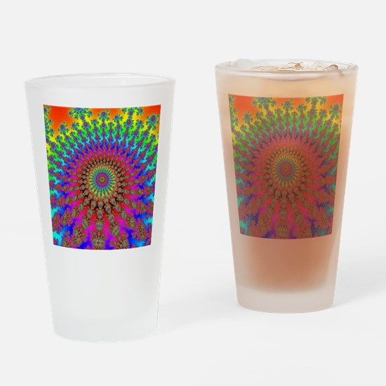 SpaceInvaderSpiral Drinking Glass