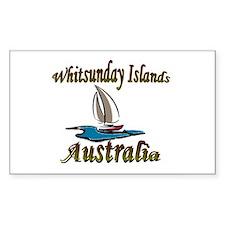 Whitsunday Islands Rectangle Stickers