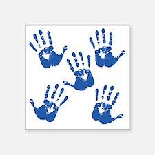 "handprintBack Square Sticker 3"" x 3"""