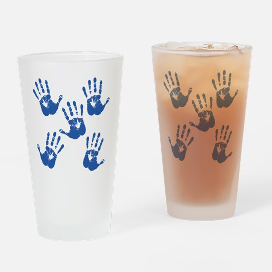 handprintBack Drinking Glass
