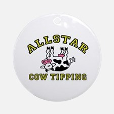allstar cow tipping Ornament (Round)