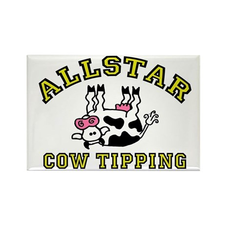 allstar cow tipping Rectangle Magnet