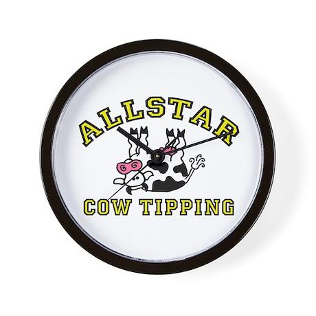 allstar cow tipping Wall Clock