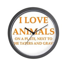 funny animals mashed potatoes gravy food joke Wall